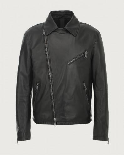 Nappa leather biker jacket