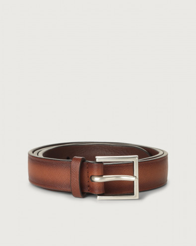 Saffiano Deep leather belt 3 cm