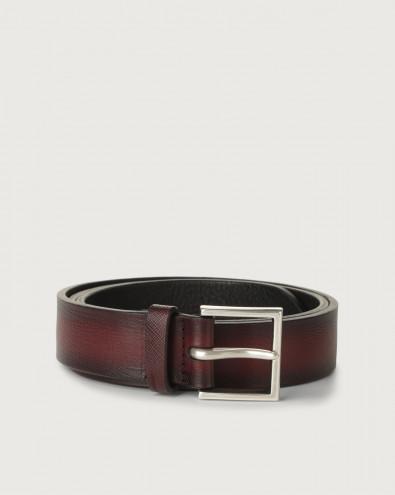 Saffiano Deep leather belt