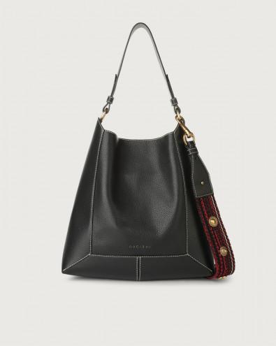 Frame Fanty Black leather shoulder bag