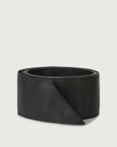 Natur leather sash belt