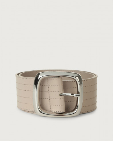 Liberty high-waist leather belt square buckle