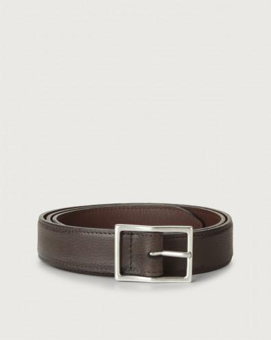 Chevrette leather belt