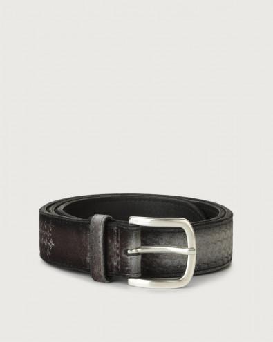 Velvet Tips velvet and leather belt