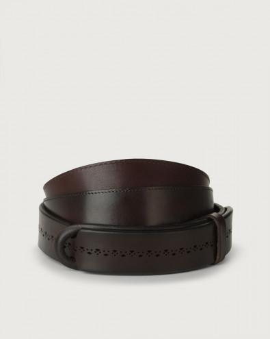 Bull Soft leather Nobuckle belt