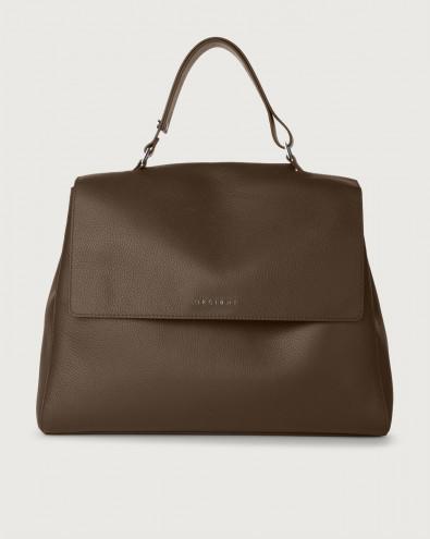 Sveva Micron large leather shoulder bag with strap
