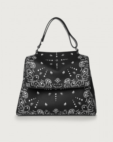Sveva Bandanas medium leather shoulder bag with strap