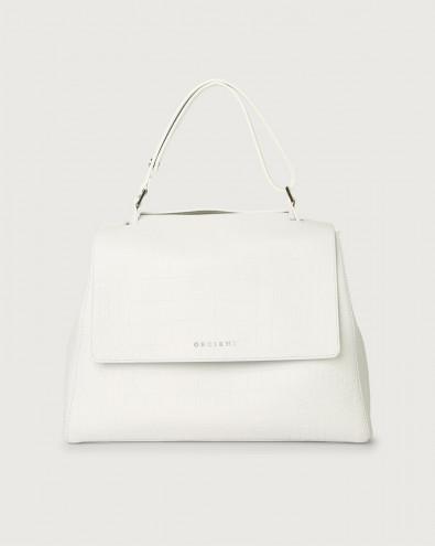 Sveva Kindu medium croc-effect leather shoulder bag with strap
