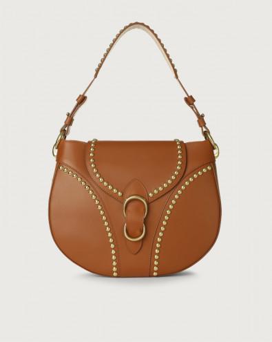 Beth Piuma Ball leather shoulder bag with brass details