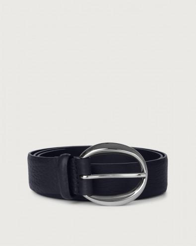 Soft leather belt
