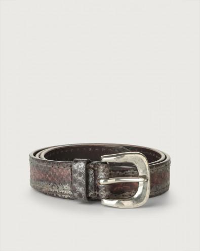 Pitone Rocher (i) pyhon leather belt