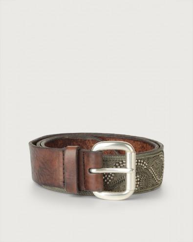 Dive Metal (i) leather belt