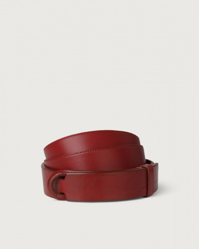 Bull leather Nobuckle belt