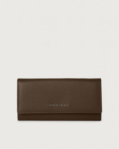 Micron leather envelope wallet with RFID