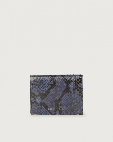 Diamond small python leather wallet