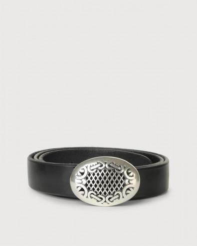 Bull Soft D leather belt 3 cm