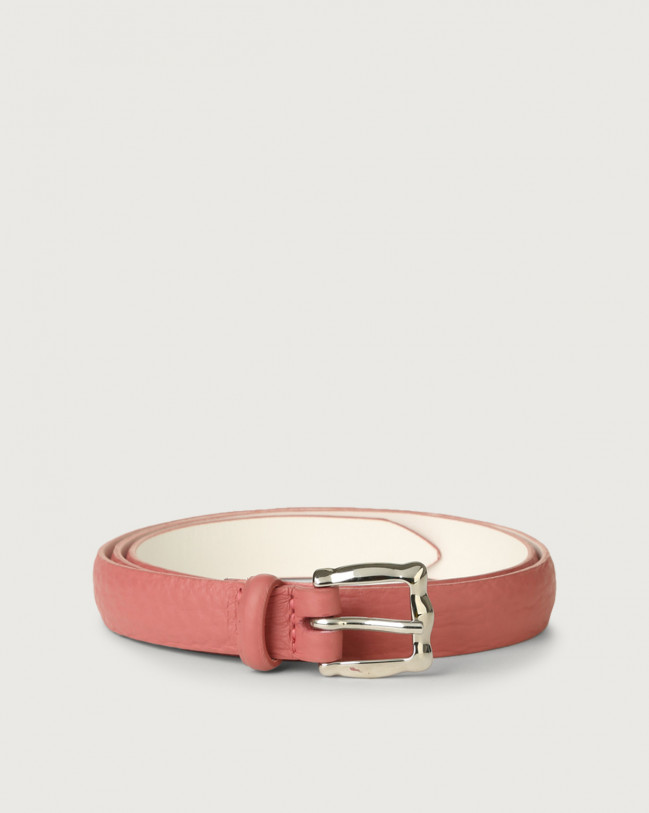 Orciani Soft thin leather belt Leather Pink