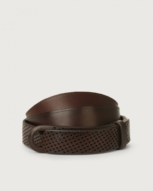 Orciani Bull Soft leather Nobuckle belt Leather Chocolate