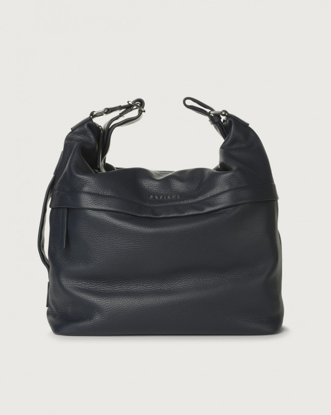 Orciani Micron leather crossbody bag Leather Navy