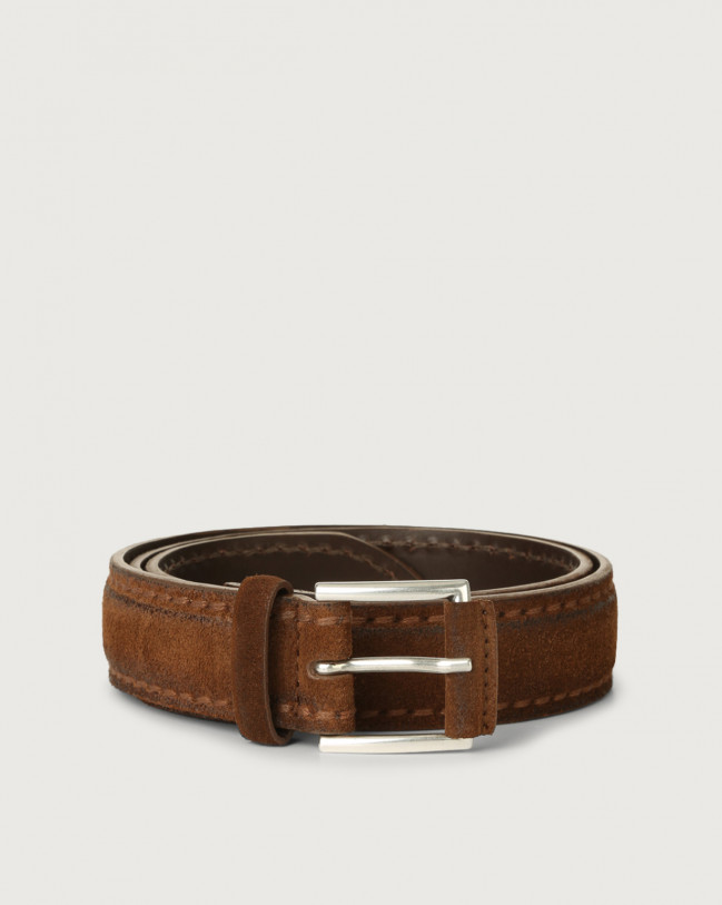 Orciani Cloudy suede leather 3,5 cm Suede Burnt