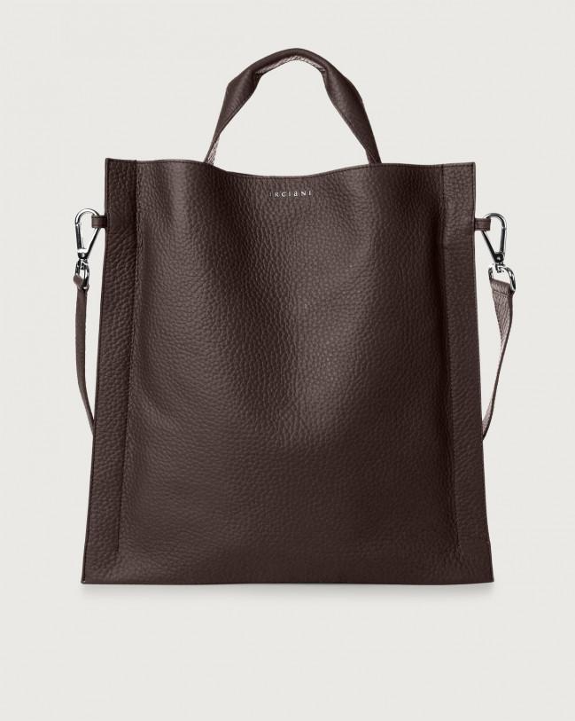Orciani Iris Soft leather shoulder bag Leather Chocolate