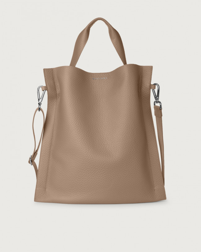 Orciani Iris Soft leather shoulder bag Leather Taupe