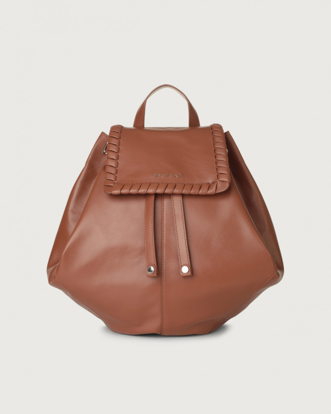 Orciani Iris Liberty leather backpack Leather Cognac