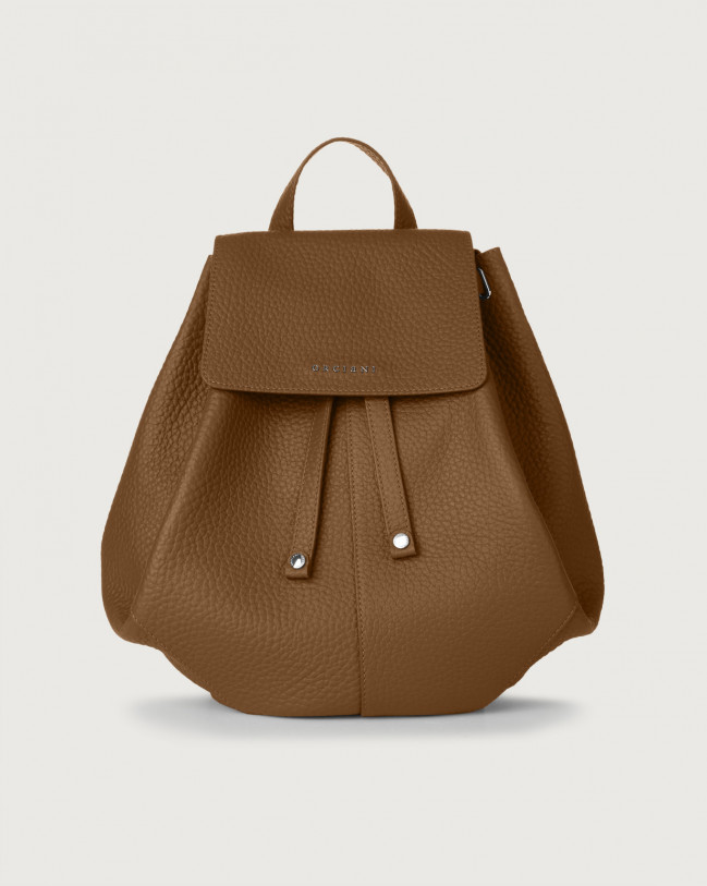 Orciani Iris Soft leather backpack Leather Caramel