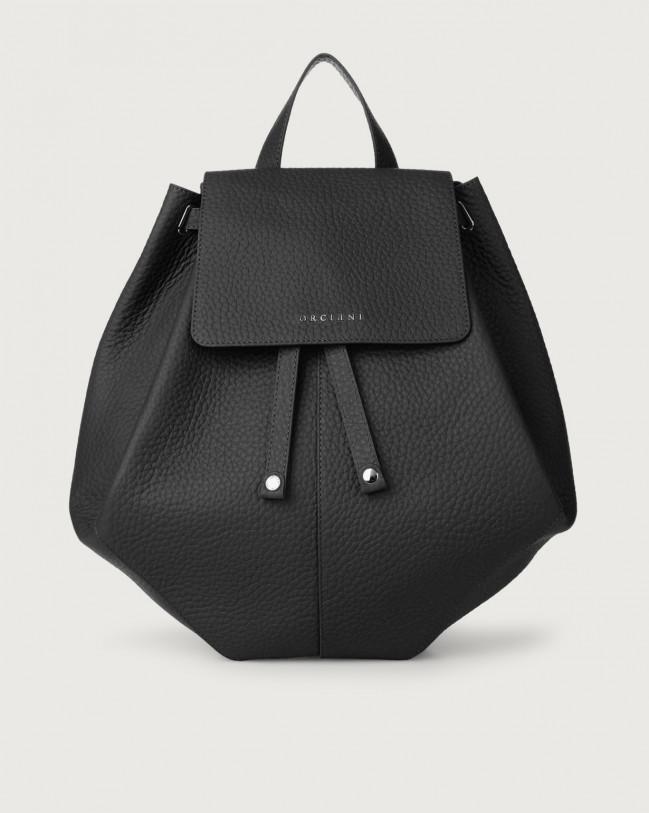 Orciani Iris Soft leather backpack Leather Black