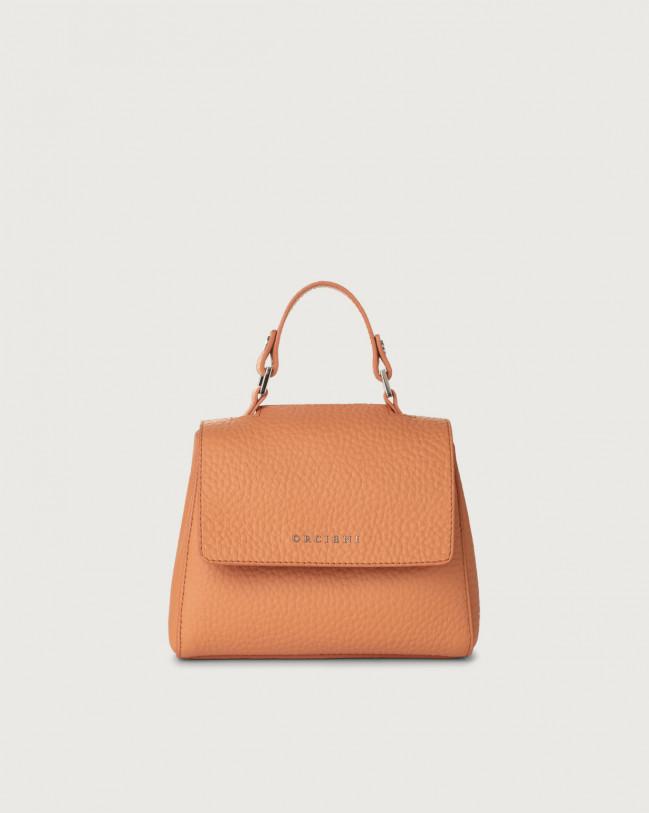 Orciani Sveva Soft mini leather handbag with strap Leather Fard