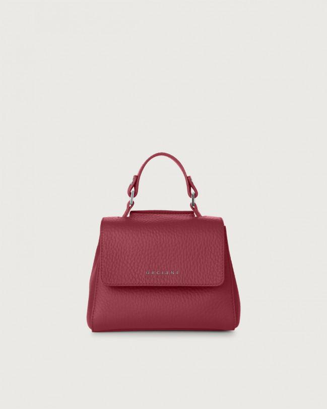 Orciani Sveva Soft mini leather handbag with strap Leather Purple