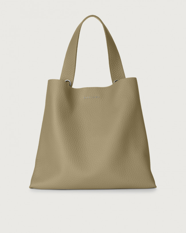 Orciani Jackie Soft leather shoulder bag Leather Kaki