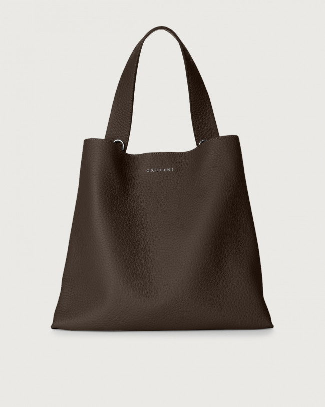 Orciani Jackie Soft leather shoulder bag Leather Chocolate