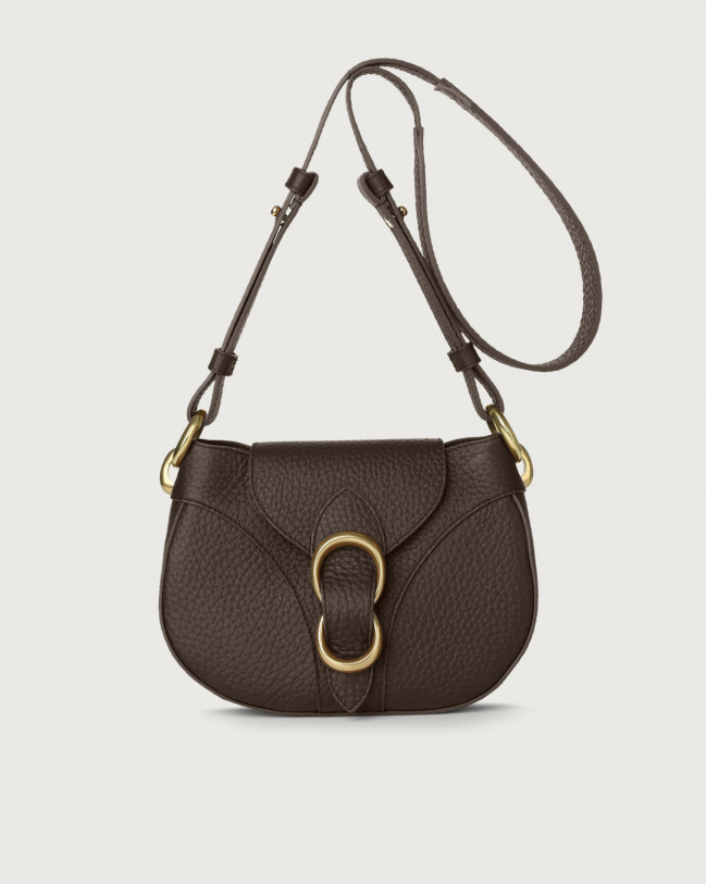 Orciani Beth Soft leather crossbody bag Leather Chocolate