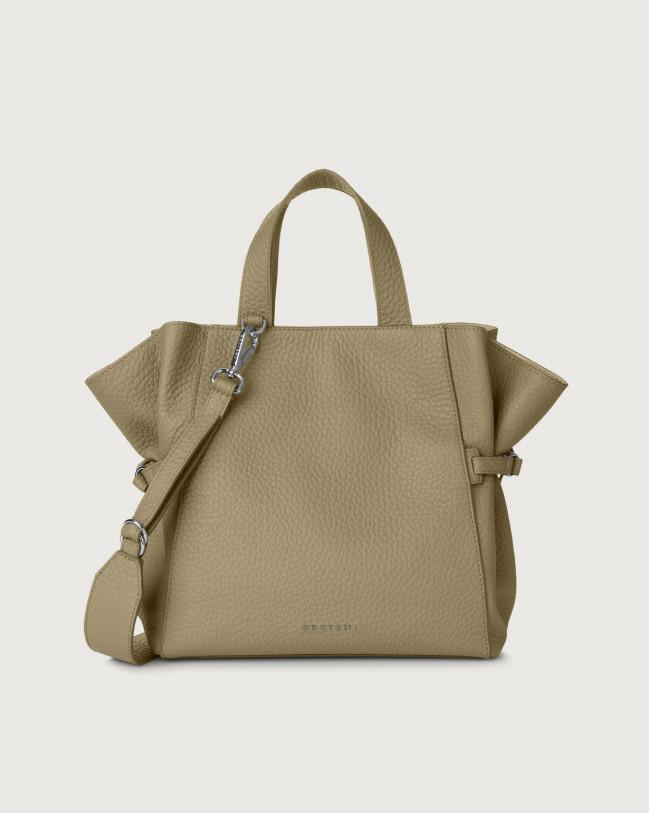 Orciani Fan Soft medium leather handbag Leather Kaki