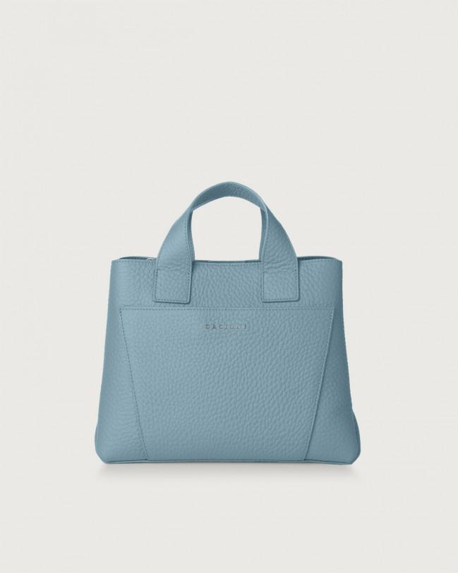 Orciani Nora Soft leather handbag Leather Light blue