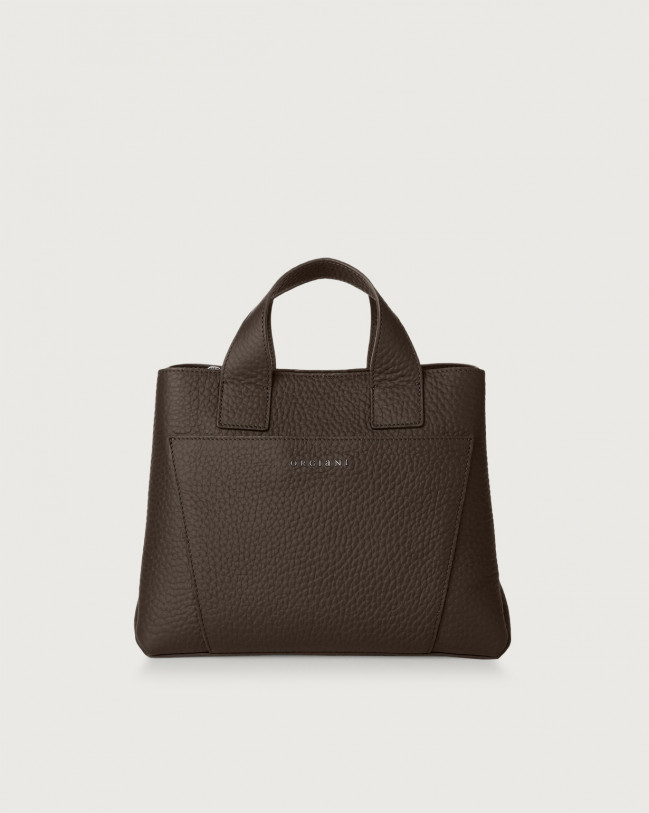 Orciani Nora Soft leather handbag Leather Chocolate