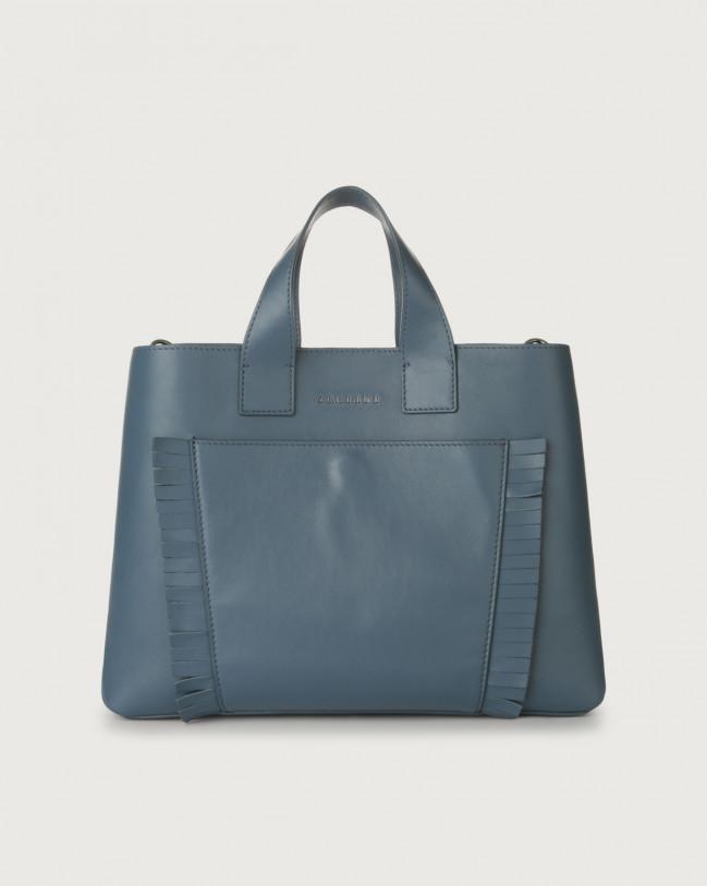 Orciani Nora Liberty Fringe large leather handbag Leather Denim