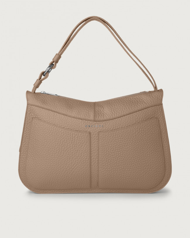 Orciani Ginger Soft large leather shoulder bag Leather Taupe