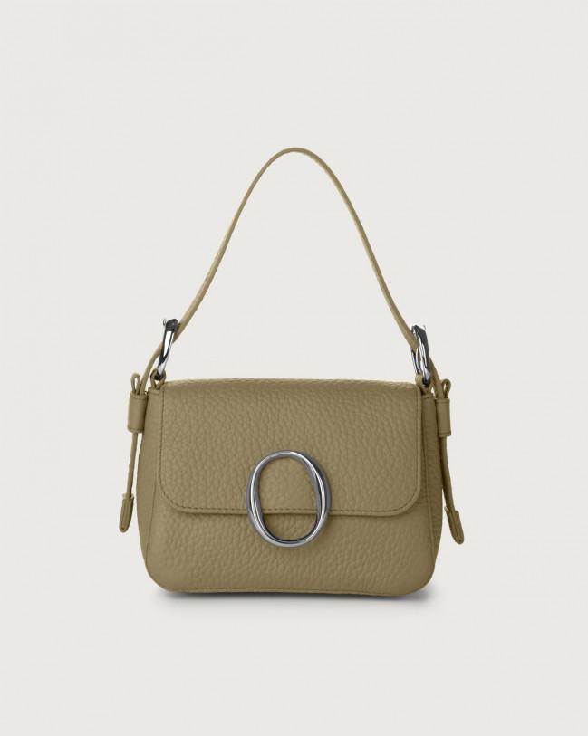 Orciani Soho Soft leather mini bag with strap Leather Kaki