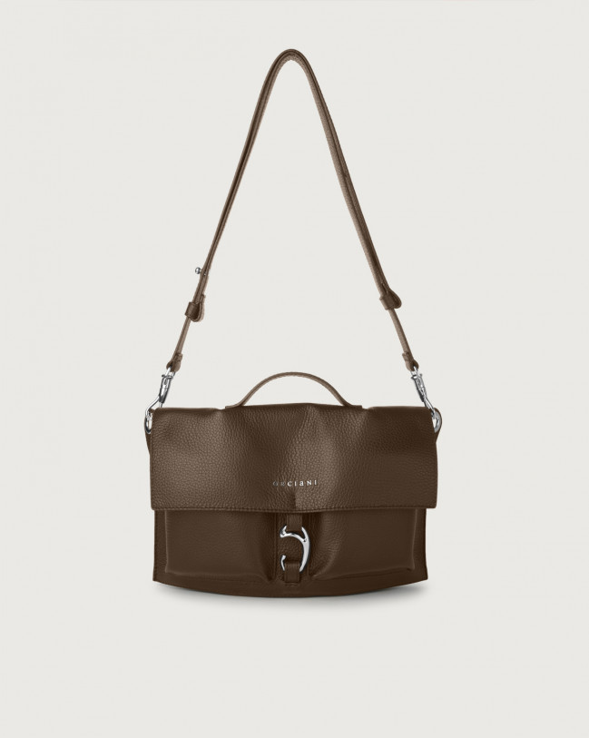 Orciani Scout Micron leather crossbody bag Leather Brown