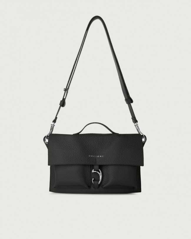 Orciani Scout Soft leather crossbody bag Leather Black