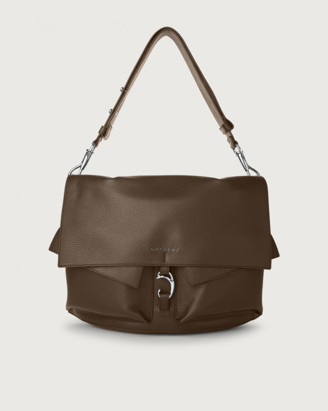 Orciani Scout Micron leather shoulder bag Leather Brown