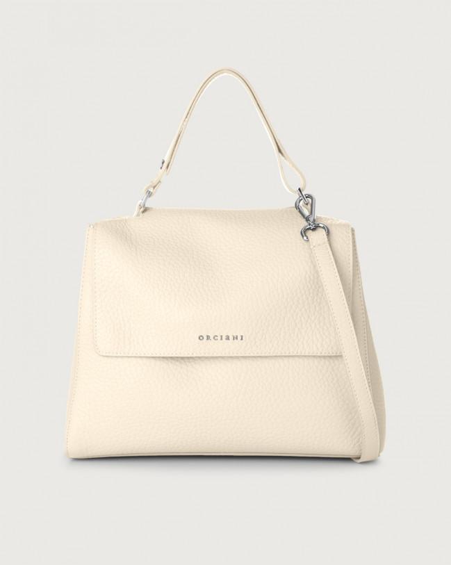 Orciani Sveva Soft medium leather shoulder bag with strap Leather Ivory