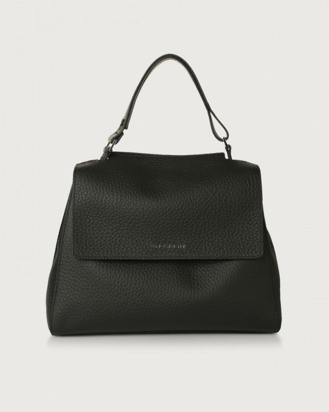 Orciani Sveva Soft medium leather shoulder bag with strap Leather Black