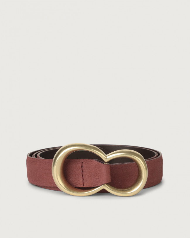 Orciani Alicante nabuck leather belt Nabuck Terracotta