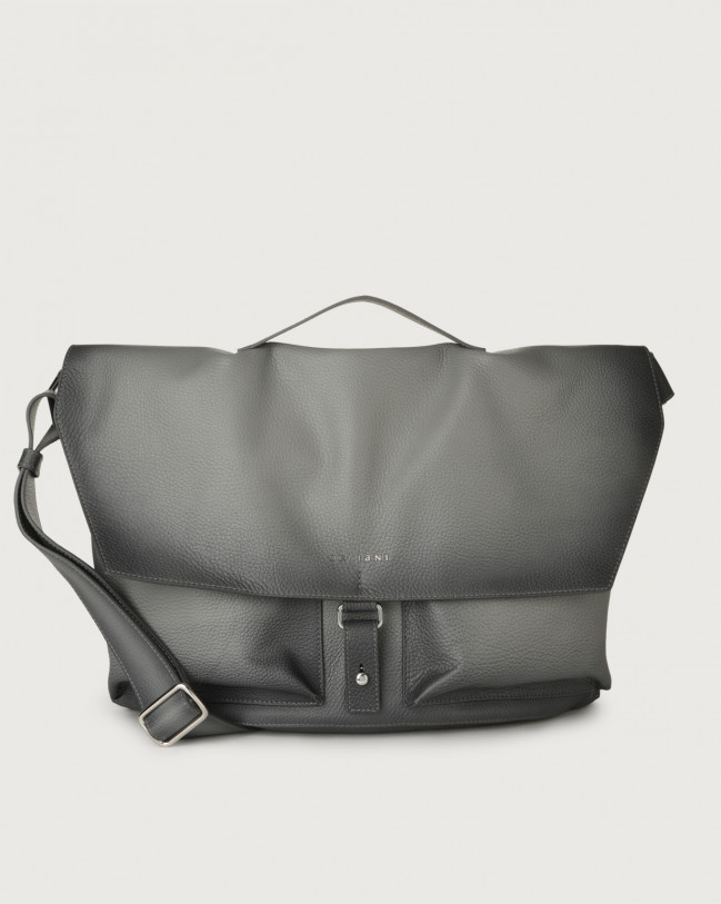 Orciani Micron Deep leather crossbody bag Leather Grey