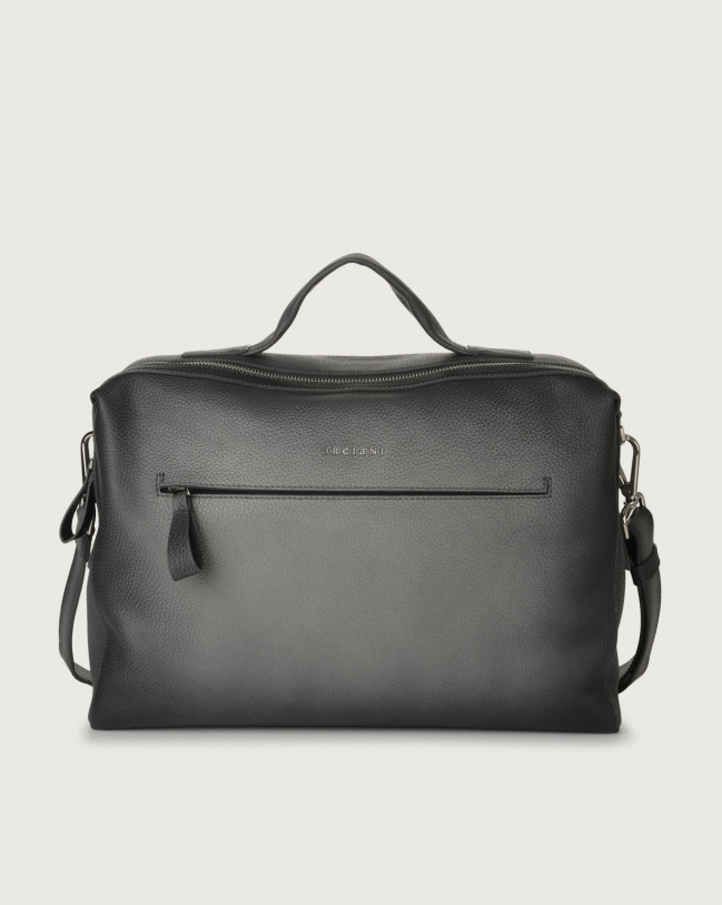 Orciani Bond Micron Deep leather duffle bag Leather Grey