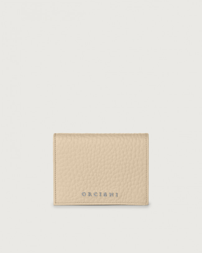 Orciani Soft small leather wallet with RFID Leather Sand