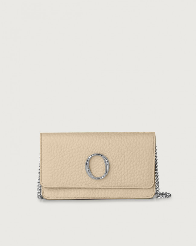 Orciani Soft leather pochette with RFID Leather Sand